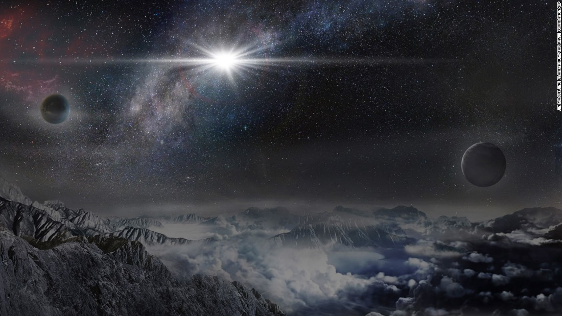 "<a href=""http://www.cnn.com/2016/01/14/us/possible-powerful-supernova/index.html"" target=""_blank"">An international team of astronomers</a> may have discovered the biggest and brightest supernova ever. The explosion was 570 billion times brighter than the sun and 20 times brighter than all the stars in the Milky Way galaxy combined, according to a statement from The Ohio State University, which is leading the study. Scientists are straining to define the supernova's strength. This image shows an artist's impression of the supernova as it would appear from an exoplanet located about 10,000 light years away."