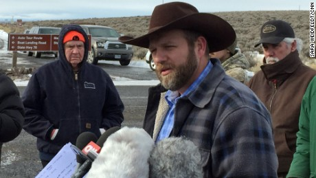 Ammon Bundy tells reporters that he and his supporters aren't ending their armed occupation  any time soon.