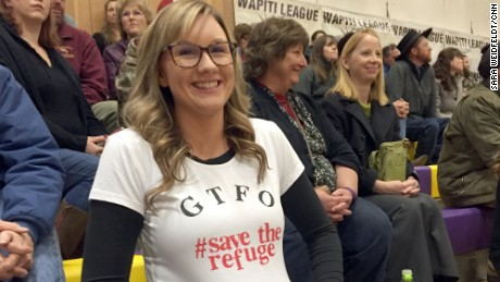 At a community meeting the past week, residents let their feelings known with words and a T-shirt.