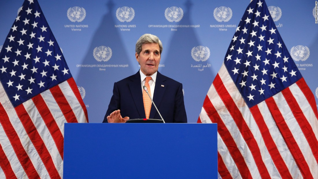 "<a href=""http://www.cnn.com/2016/01/16/middleeast/vienna-iran-iaea-nuclear-deal/index.html"" target=""_blank"">U.S. Secretary of State John Kerry </a>announces on Saturday, January 16, in Vienna that sanctions will be lifted on Iran after the International Atomic Energy Agency (IAEA) verified that Iran has met all conditions under the nuclear deal."