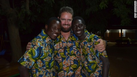 Michael Riddering, 45, center, moved to Burkina Faso five years ago.