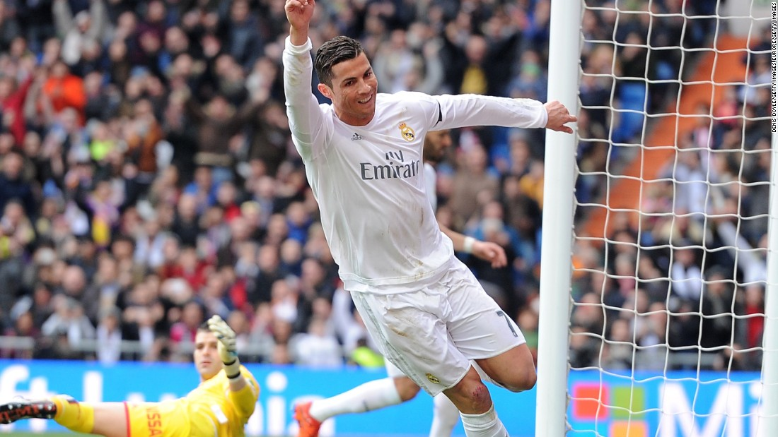 Cristiano Ronaldo scored a double with his side's second and fourth goals in the 5-1 beating of Sporting Gijon.
