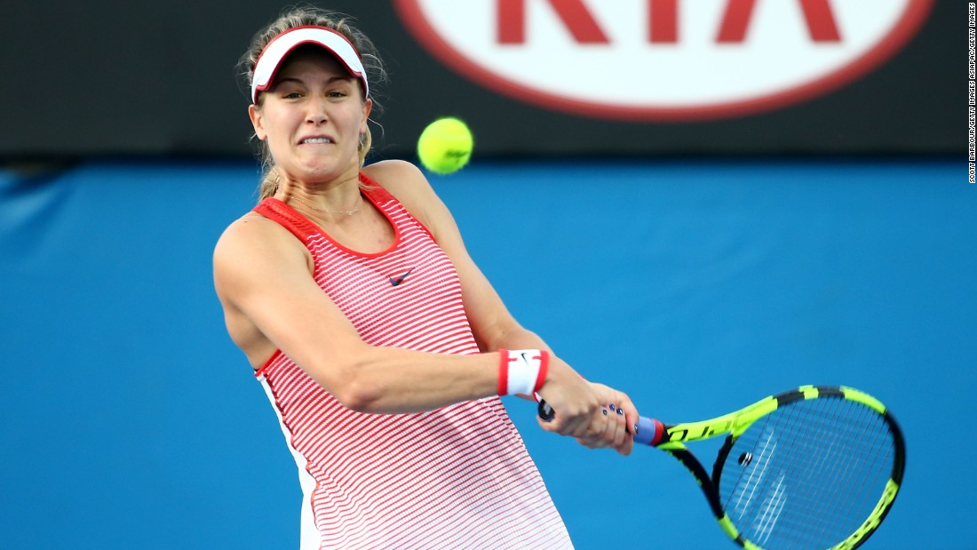 Canada's Eugenie Bouchard had a difficult 2015 season after reaching the quarterfinals in Melbourne, but made a positive start to this year's event by defeating Serbia's Aleksandra Krunic 6-3 6-3.