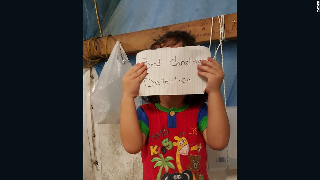 "An image on the Facebook site <a href=""https://www.facebook.com/Free-the-Children-NAURU-839867502797443/?fref=nf"" target=""_blank"">""Free the Children NAURU,""</a> uploaded in November, 2015, shows a small child with a tally of how long they have been on the island."
