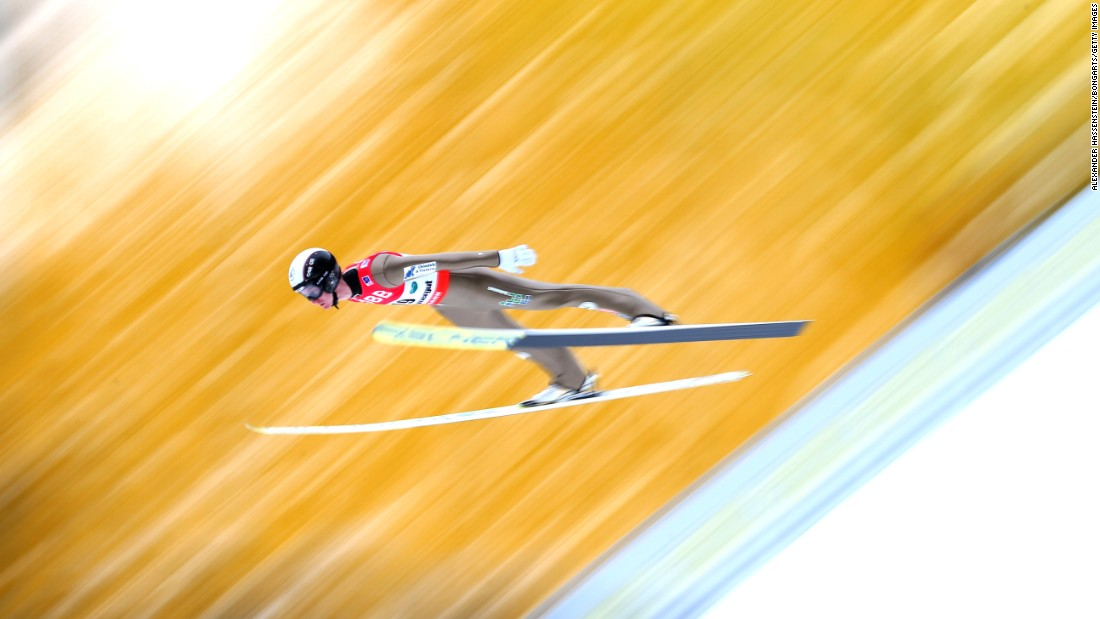 Czech ski jumper Lukas Hlava competes in the Ski Flying World Championships on Friday, January 15.