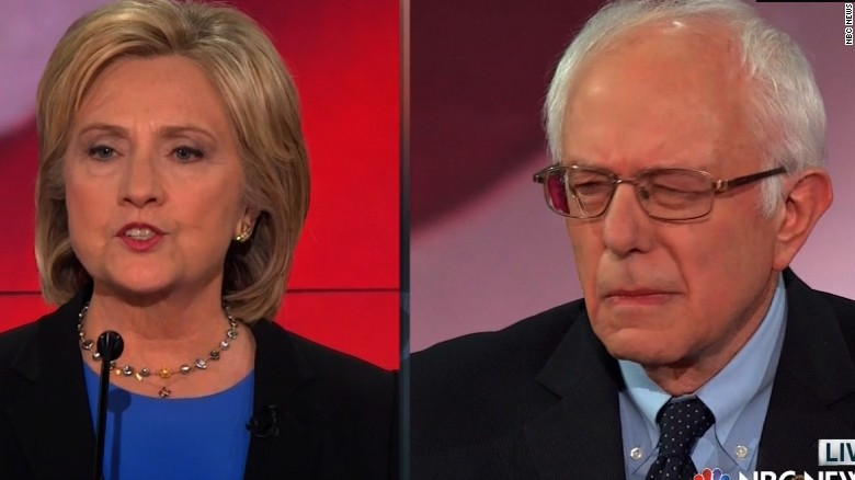 Sanders' side-eye wins the debate, Internet