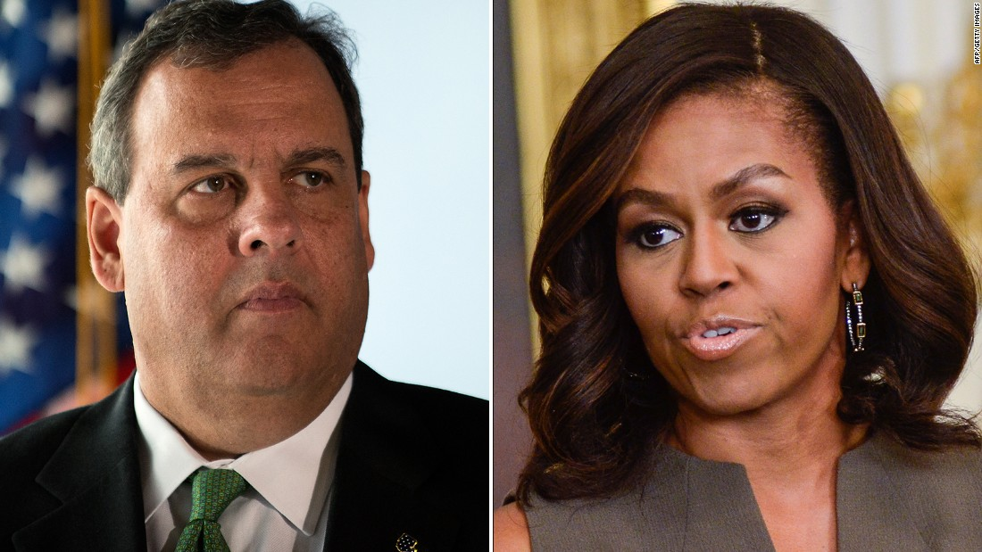 Chris Christie: First lady 'has no business' with school lunches