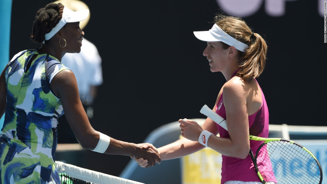 There was another surprise result in the women's draw on day two as Venus Williams was knocked out by Johanna Konta, with the world No. 47 winning 6-4 6-2.