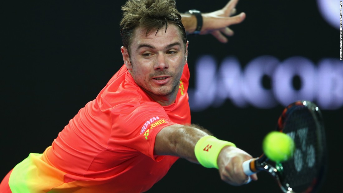Switzerland's Stan Wawrinka, the 2014 Australian Open winner, advanced to the next round after his opponent Dmitry Tursunov was forced into early retirement through injury,