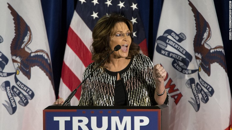 Trump-backing Palin comes out swinging against Cruz