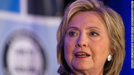 "CHARLESTON, SC - JANUARY 16:  Former Secretary of State and Democratic presidential hopeful Hillary Clinton speaks at the ""First in the South"" Dinner on January 16, 2016 in Charleston, South Carolina. Clinton is in town campaigning before tomorrow night's democratic presidential debate.  (Photo by Andrew Burton/Getty Images)"