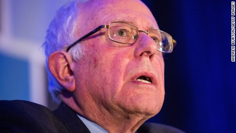 "Democratic presidential hopeful Sen. Bernie Sanders (I-VT) speaks at the ""First in the South"" Dinner on January 16, 2016 in Charleston, South Carolina."