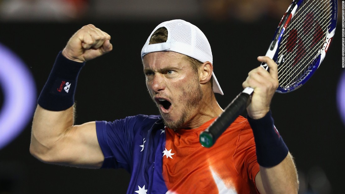 The trademark fist pump was seen more than once, but Hewitt was ultimately unable to overcome his opponent, losing in straight sets 6-2 6-4 6-4.