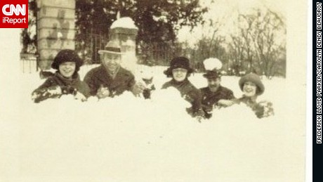 Marine Sgt. Frederick Lloyd Parker took this photo of the heavy snowfall in Washington in February 1922.