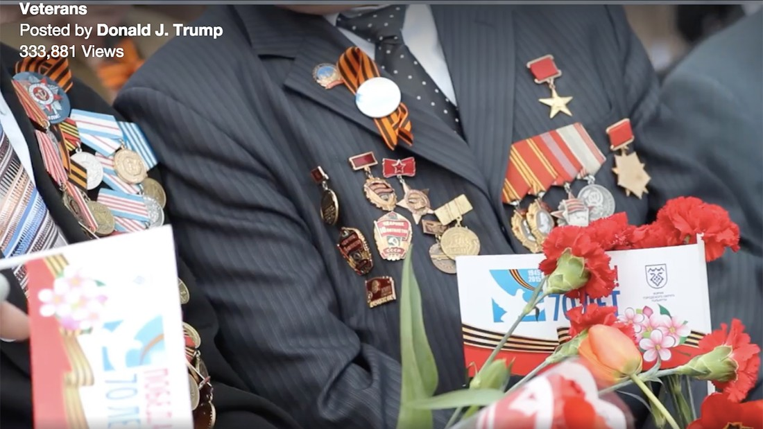 Trump video mistakes Soviet veterans for Americans