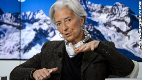 Managing director of the International Monetary Fund (IMF) Christine Lagarde in Davos, Switzerland this week.