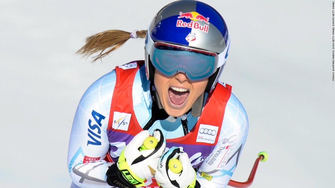 Vonn bagged her 37th World Cup downhill win in Cortina d'Ampezzo, Italy, in January 2016 to move ahead of Austrian Annemarie Moser-Proell's record. She added another victory a couple of weeks later in Garmisch, Germany.