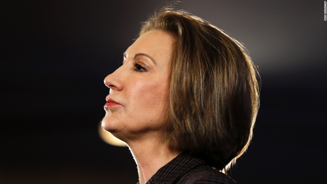 Republican presidential candidate Carly Fiorina speaks Saturday, January 23, at the New Hampshire Republican Party summit in Nashua.