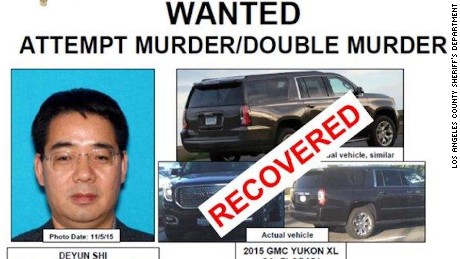 Los Angeles County Sheriff's Department issued a wanted poster for Deyun Shi in relation to the attacks.
