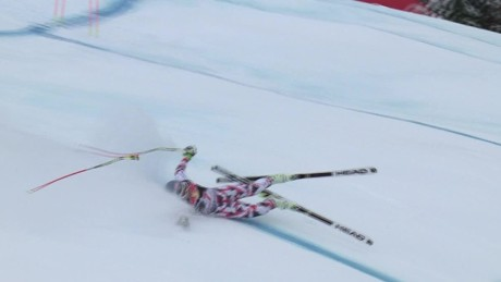 Dramatic crashes in Kitzbühel downhill race
