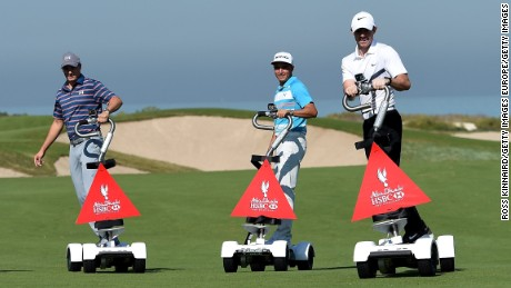 Spieth (left), Fowler and McIlroy (right) are surfing a wave of success in golf