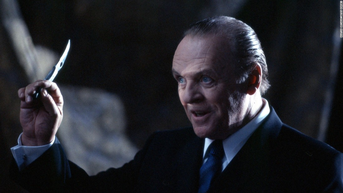 "<strong>""Hannibal"":</strong> Anthony Hopkins reprises his role as serial killer Dr. Hannibal Lecter in this 2001 thriller. <strong>(Hulu) </strong>"