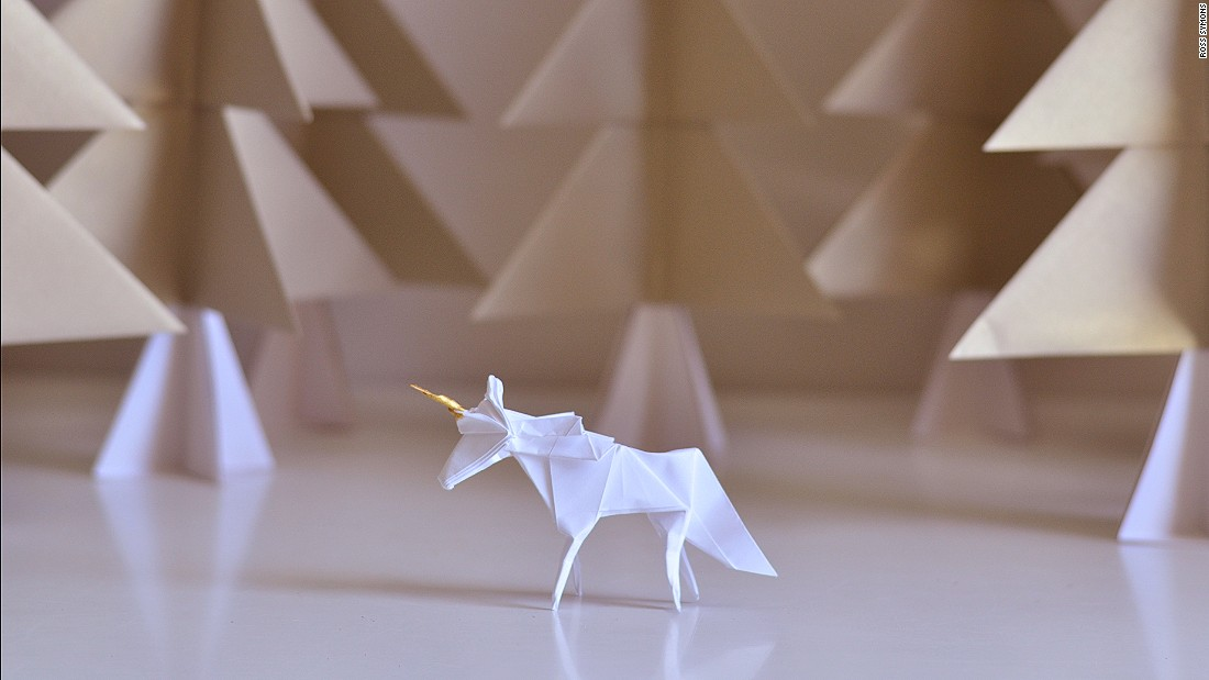 "Symon's ambition is to take his origami brand global. ""What I would like to do is installations around the world. Whether it's for a shop window, or for a big event or campaign."""