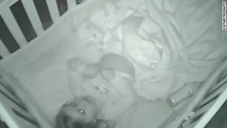 Toddler caught praying on baby monitor