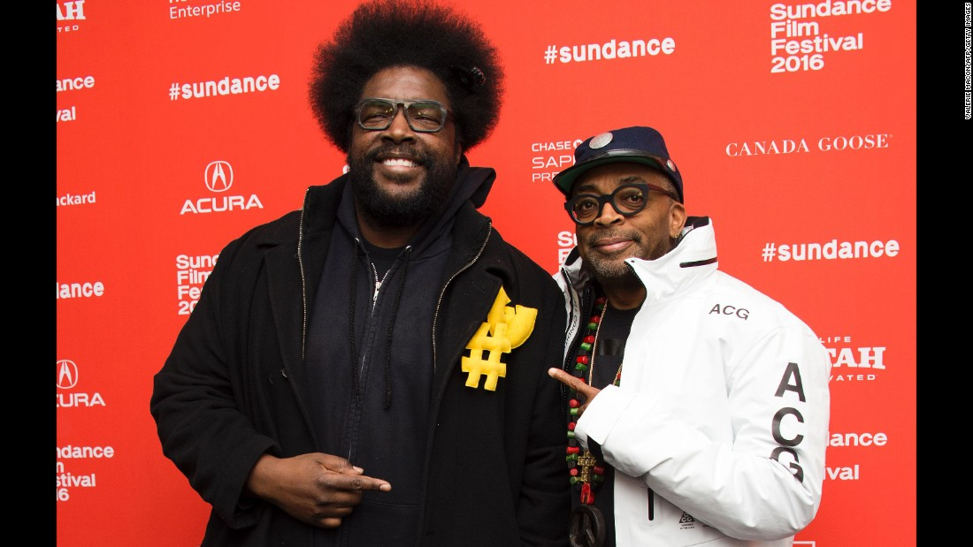 "Recording artist Questlove, left, and director Spike Lee attend Lee's documentary, ""Michael Jackson's Journey from Motown to Off the Wall."""