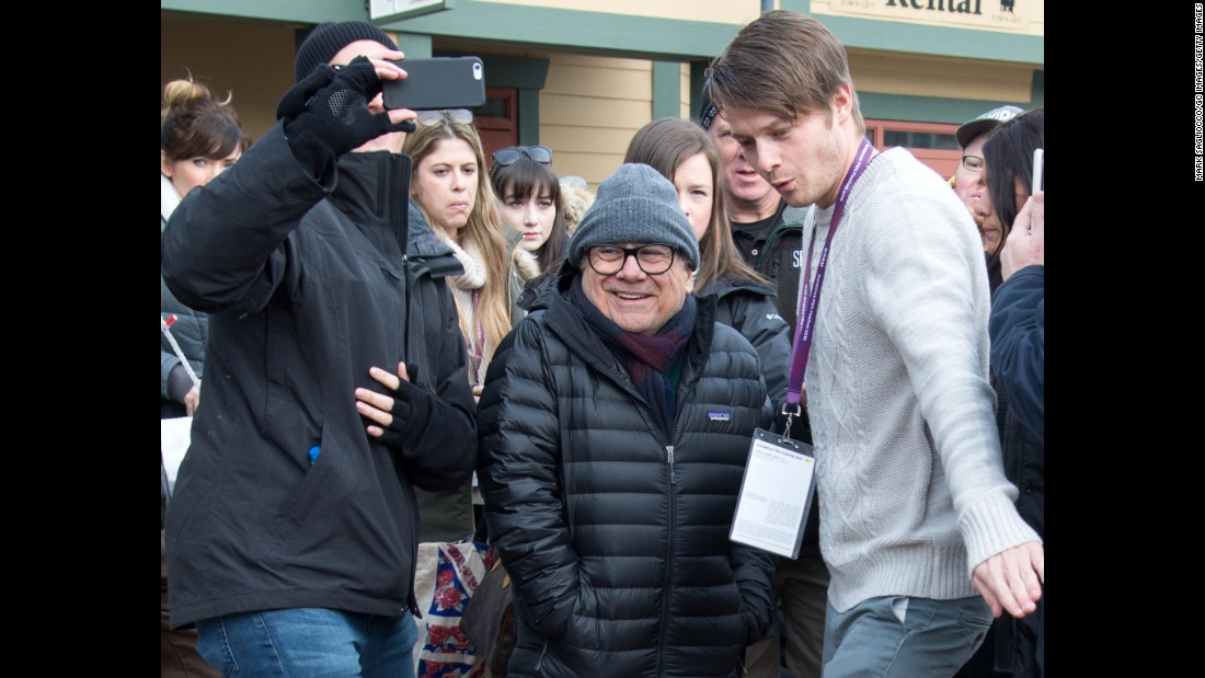 "Veteran actor Danny DeVito was spotted at the festival last Saturday. DeVito appears in ""Wiener-Dog,"" the new dark Sundance comedy by writer-director Todd Solondz."