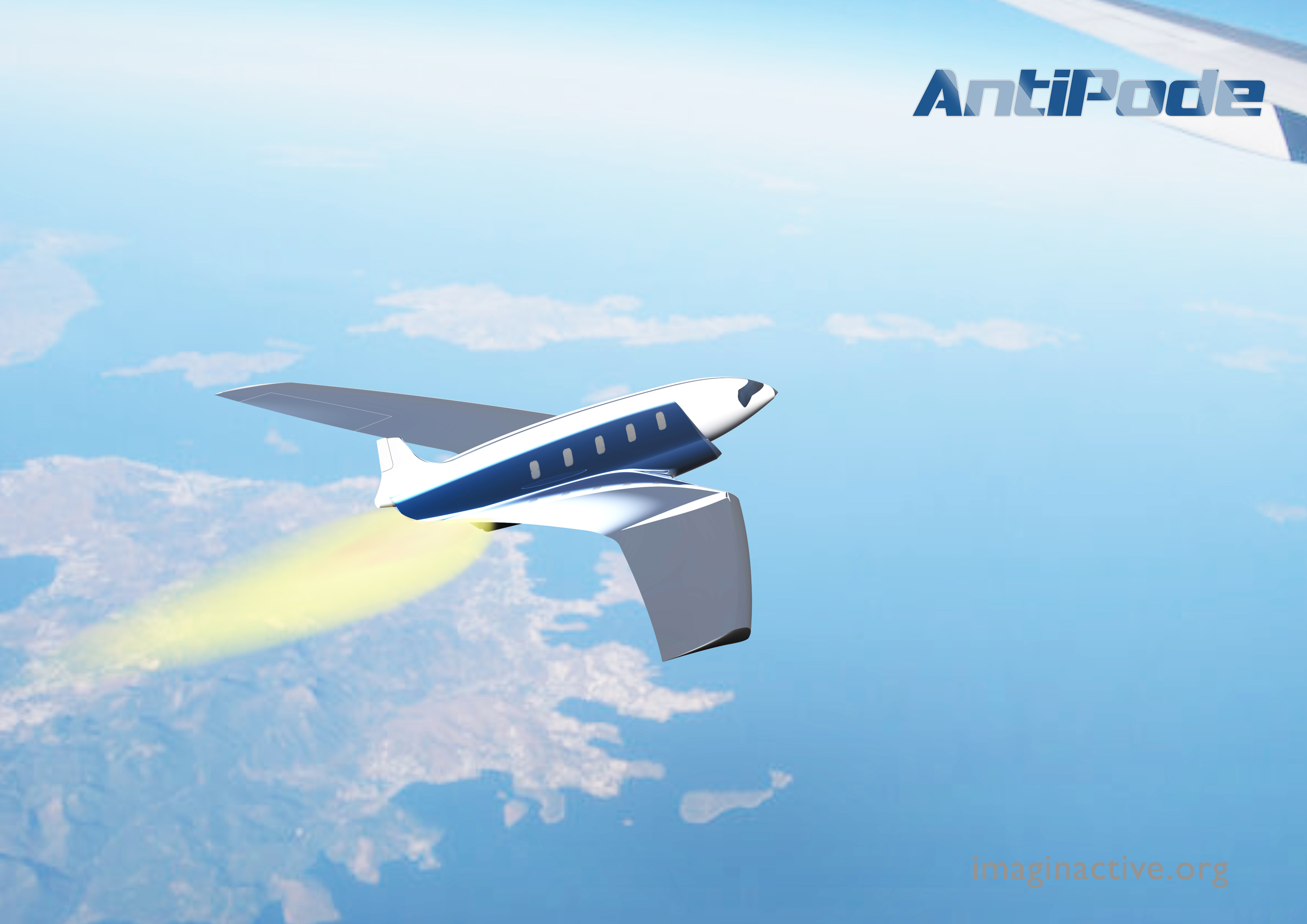Antipode hypersonic jet: New York to London in 11 minutes
