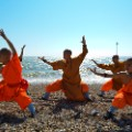 shaolin monks beach england