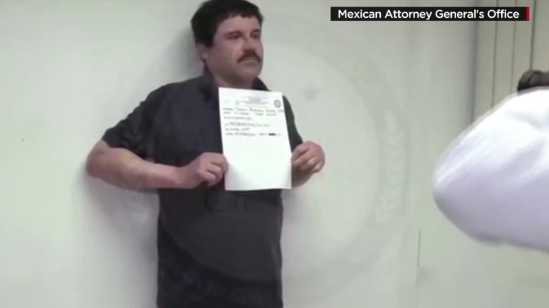 Video shows 'El Chapo' being booked