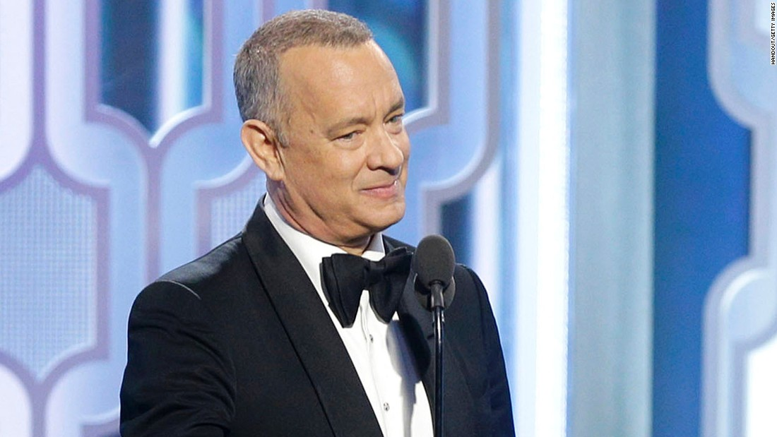 "The ""Big"" and ""Saving Private Ryan"" star, seen here at the 2016 Golden Globes, was named America's favorite actor in a new poll. Here are the other nine movie stars on the list."