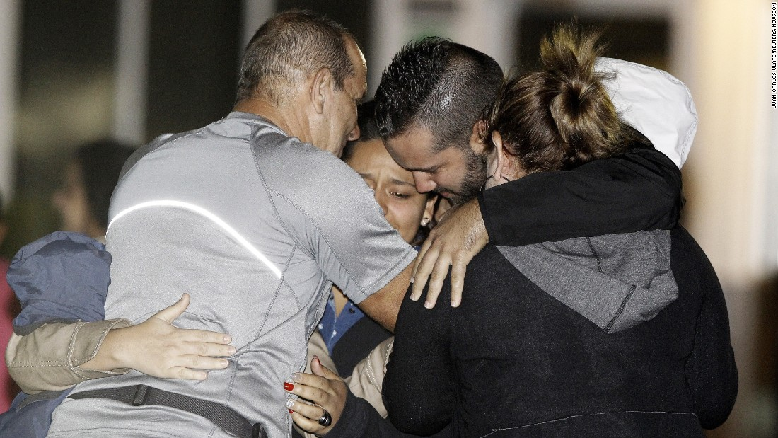 "Survivors of a capsized tourist boat embrace their relatives at an airport in Alajuela, Costa Rica, on Sunday, January 24. The ""Caribbean Queen"" was carrying 32 people <a href=""http://www.cnn.com/2016/01/24/americas/nicaragua-boat-capsizes/"" target=""_blank"">when it capsized</a> off the coast of Nicaragua. At least 13 people were killed, officials said."