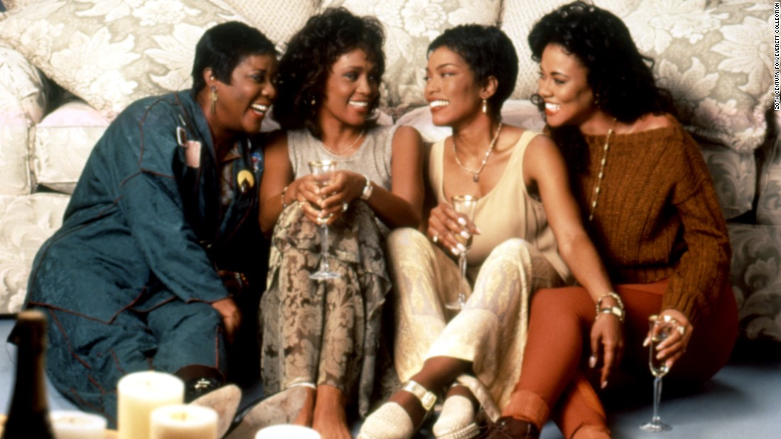 "Starring Loretta Divine (from left), Whitney Houston, Angela Bassett and Lela Rochon, ""Waiting to Exhale"" features one of the best woman-scorned scenes ever captured. Bassett's character piles her cheating husband's belongings inside his very fancy car and sets fire to the lot of it."