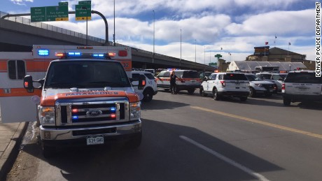 The Denver Police Department tweeted images from the scene of the shooting.