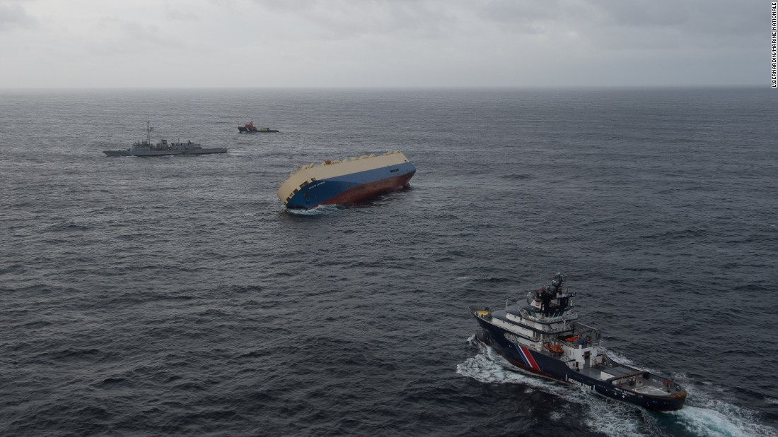 Salvage officials plan to tow the abandoned cargo ship to port when seas calm. Meanwhile, maritime officials are not certain why the Modern Express began listing.