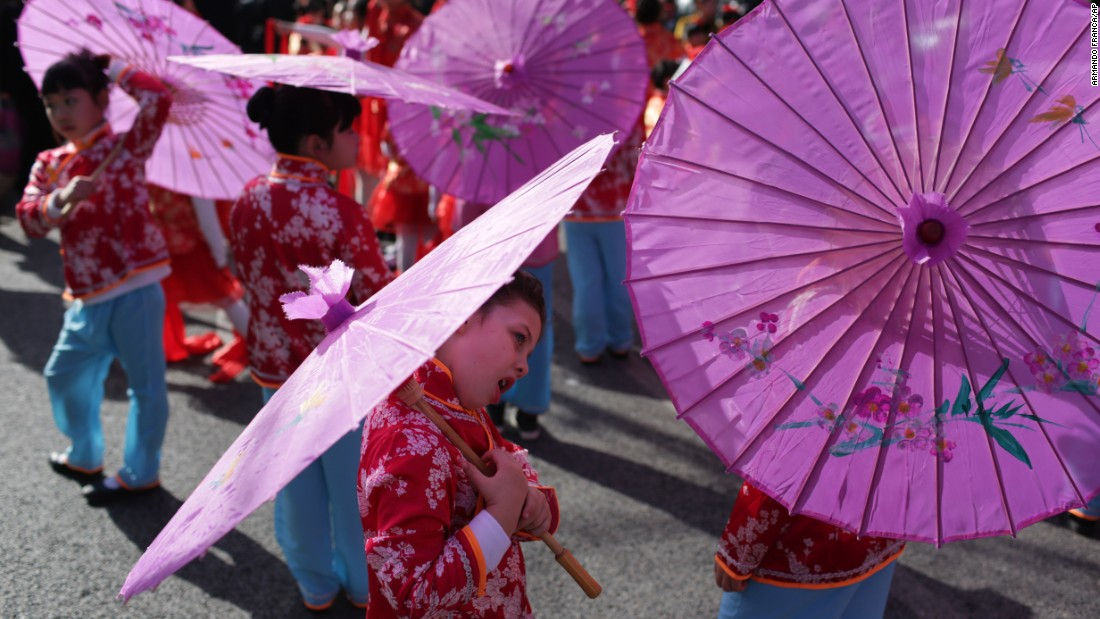 Children take part in Lunar New Year celebrations in Lisbon, Portugal, on  Saturday, January 30. About 20,000 Chinese people live in Portugal, half of them in Lisbon.