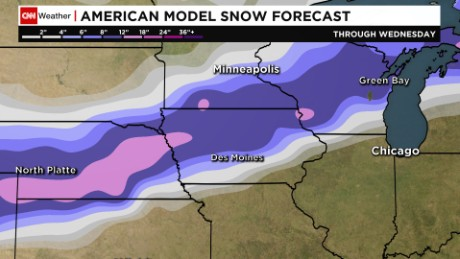 A look at snow accumulation through Wednesday