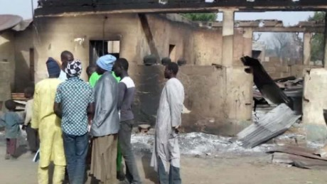 Boko Haram burns Nigerian village to the ground