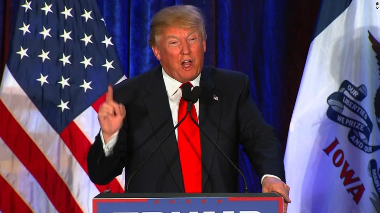 Donald Trump thanks Iowa, congratulates opponents