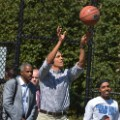 obama playing basketball file
