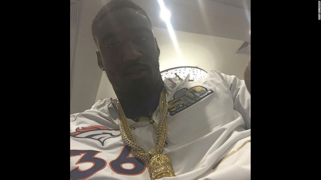"Denver Broncos defensive back Kayvon Webster takes a selfie on his birthday Monday, February 1. ""Quarter of a century Today!"" <a href=""https://www.instagram.com/p/BBQzuW8na4W/"" target=""_blank"">he said on his Instagram.</a>"