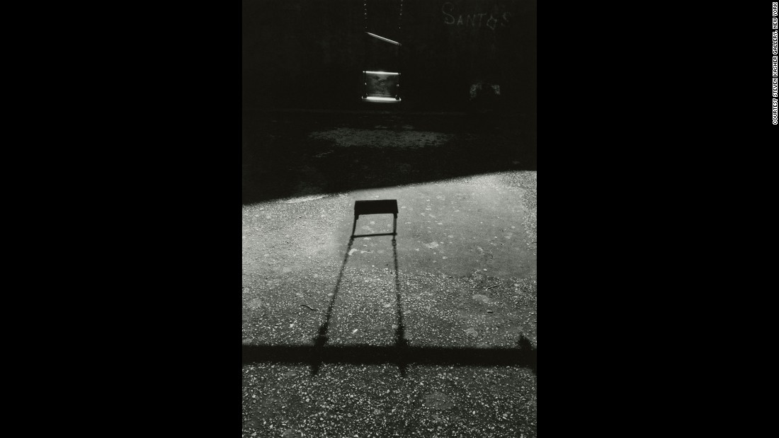 In 1959, Draper's work was exhibited at the George Eastman Museum in Rochester, New York. The world's oldest photography museum recognized him as one of the most refined photographers of the era. Consider the composition of this photo -- a playground swing and its shadow.