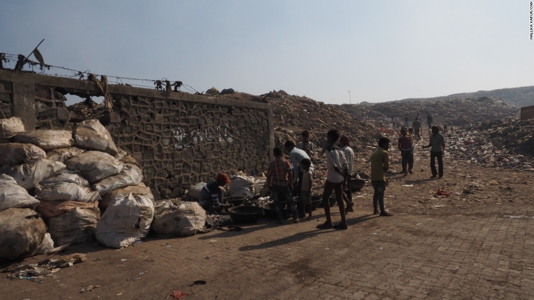 The dump is surrounded on three sides by slums -- which critics say is the reason the government won't make any effort to provide basic services.