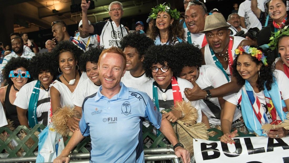 Ryan, formerly coach of the England sevens team, describes Fijian supporters as the best in the world.