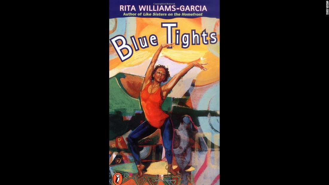 """Blue Tights"" by Rita Williams-Garcia is about 15-year-old Joyce, who finds a way to express herself through dance."