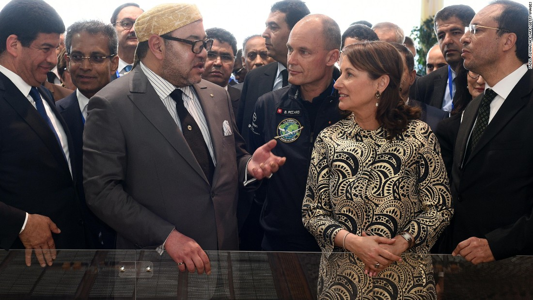 "Moroccan King Mohammed VI inaugurated the plant on 4 February 2016. He talks here with the French minister for Ecology, Sustainable Development and Energy, <a href=""https://twitter.com/royalsegolene"" target=""_blank"">Segolene Royal</a>."