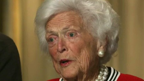 Barbara bush sick of trump gangel intv lead  _00003203